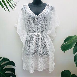 White Crotchet Cover Up Boho Bathers lace edited